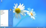 StartMenu8を使ってWindows 8デスクトップにスタートボタンとスタートメニューを追加したところ