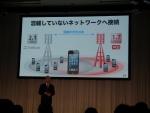 ダブルLTEで既存の2.1GHz帯のほか1.7GHz帯の電波で通信ができるようになる
