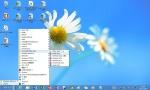 現行のWindows 8でも、スタートメニューに似た「新規ツールバー」をタスクバーに追加すれば、このような画面にできる。「Windows Blue」では、スタートボタンやスタートメニューの復活の有無が最大の注目点になる