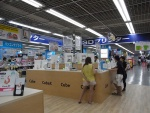 ヤマダ電機はLABI1日本総本店池袋に、3Dプリンターの特設売り場を設置。「Cube」だけでなく上位機の「CubeX」も展示している。8月下旬の週末に、子供向けの体験イベントを実施する予定だ