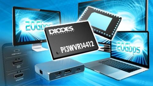 8K映像信号に使える20Gbps対応のスイッチIC