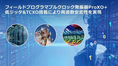 TCXOを搭載するプログラマブルクロック発振器の応用先イメージ
