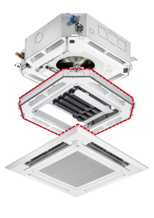 空気質改善ユニットの取り付けのイメージ