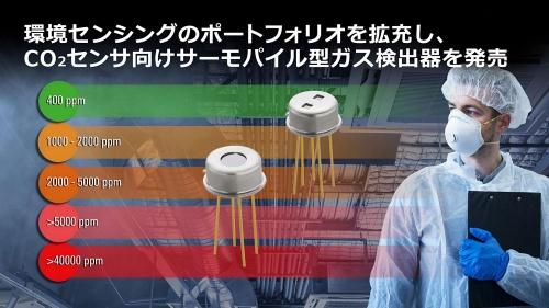 CO<sub>2</sub>の濃度計測に向けたサーモパイル型ガス検出器IC