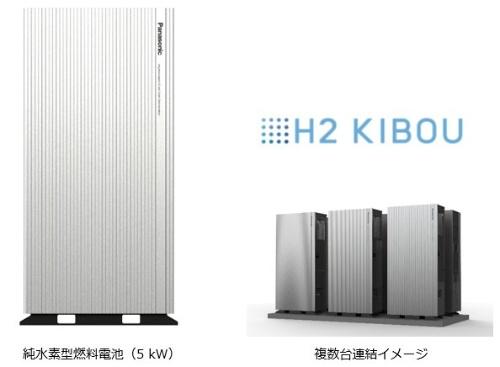 図1 パナソニックが開発した純水素型燃料電池「H2 KIBOU」