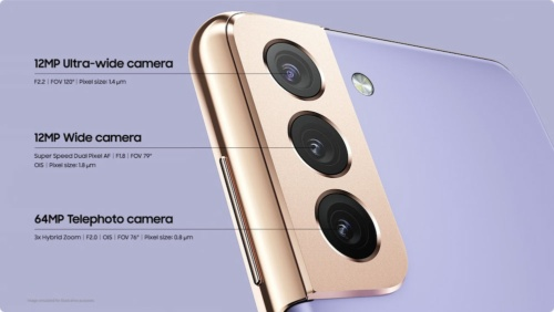 リアカメラは光学3倍の望遠カメラを含む3眼