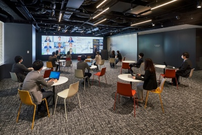 「Lumada Innovation Hub Tokyo」の協創スペース