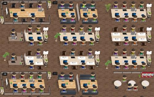 富士ソフトが2021年6月15日に販売を始める、仮想オフィス空間を提供するサービス「FAMoffice」の画面例