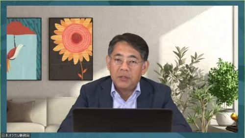 事業戦略を説明する三沢智光社長