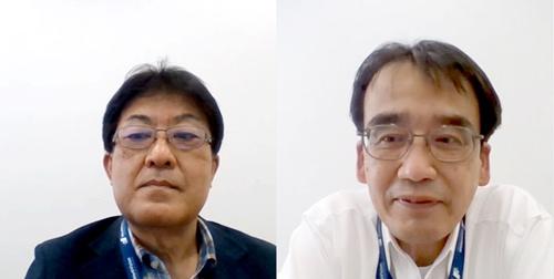 写真●WorkVision取締役 経営企画部長の山田顕彦氏(左)と経営企画部 情報システムグループ担当部長 小田村隆氏