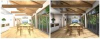 高画質表示の搭載で壁紙や床材などの表現力が向上(資料:メガソフト)