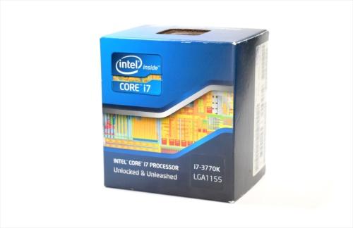米Intel(インテル)製CPU「Core i7-3770K」のパッケージ。Windows 8が発売された2012年10月に、東京・秋葉原で入手した