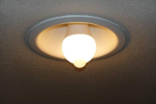 取り付けて電灯のスイッチを入れた状態で使用する