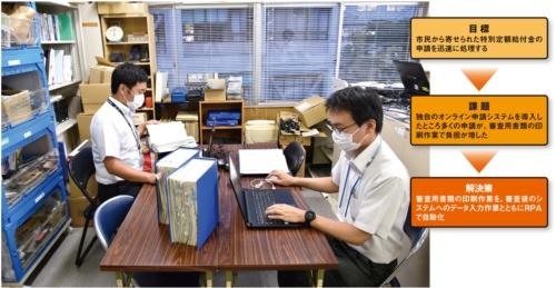 三島市が特別定額給付金の申請受付業務で掲げた目標と直面した課題、解決策