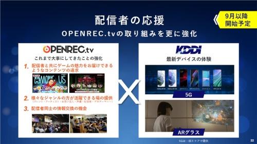 OPENREC.tvはUGCの色が強いサービスでもあることから、サービスを支える配信者などの意向を重視したサービス強化を図っていくとのことだ