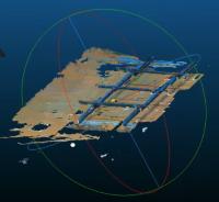 小型3Dセンサーによる配筋マッピング(画像提供:スマートロボティクス)