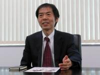 写真2●InCircleを現場で活用しているバッファロー・IT・ソリューションズの後藤宏聡ITソリューション事業営業部長
