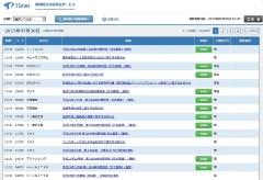 図●東京証券取引所の「適時開示情報閲覧サービス」の画面。3400社余りの上場企業が、ここで情報開示を行う。