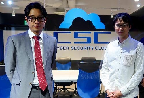 サイバーセキュリティクラウドの大野暉代表取締役(左)と、渡辺洋司取締役CTO