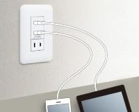 「埋込 [充電用] USBコンセント 2ポート」の使用イメージ