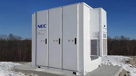 オールインワン型の法人向け中型蓄電システムの外観