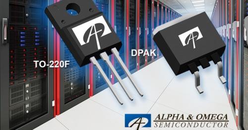 オン抵抗を削減した+600V/700V耐圧のスーパージャンクション型パワーMOSFET。Alpha and Omega Semiconductor社のイメージ