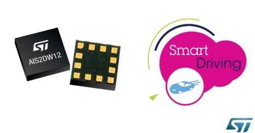 パッシブ方式のリモート・キーレス・エントリーに対応したキーフォブに向けた3軸加速度センサーIC。STMicroelectronicsのイメージ
