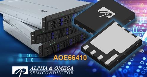 大きなソース電極の新型パッケージに封止した40V耐圧MOSFET。Alpha and Omega Semiconductorのイメージ
