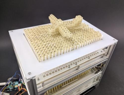 Dynablockで3次元物体を作製する様子(出所:東京大学、JST)