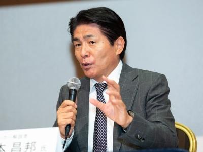NHKサッカー解説者 山本 昌邦 氏(撮影:海老名 進)